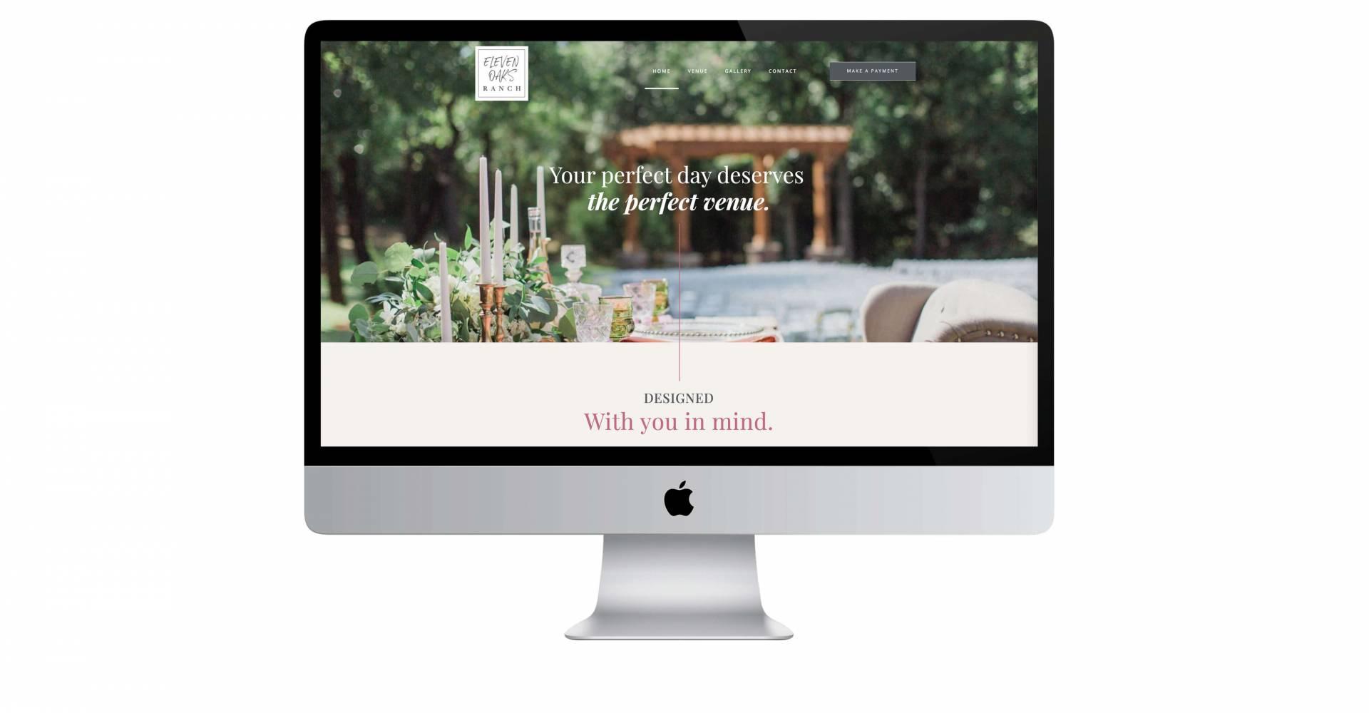 Eleven Oaks Ranch Wedding Website Design