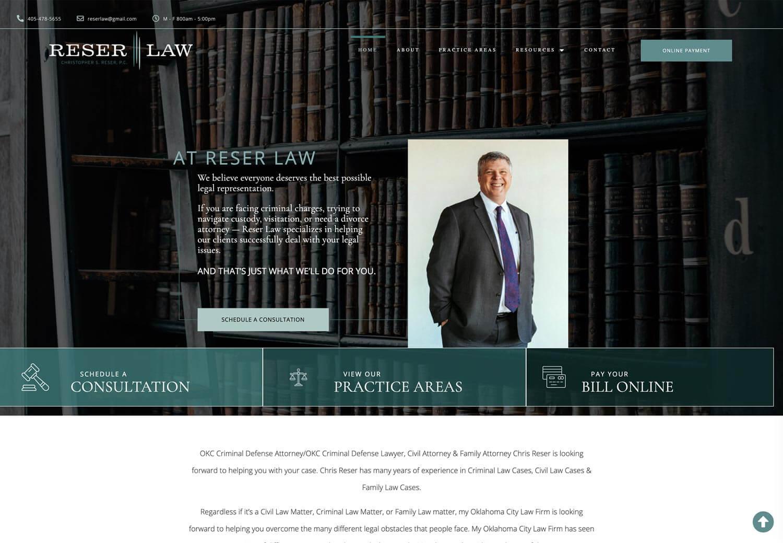Reser Law Website AFTER