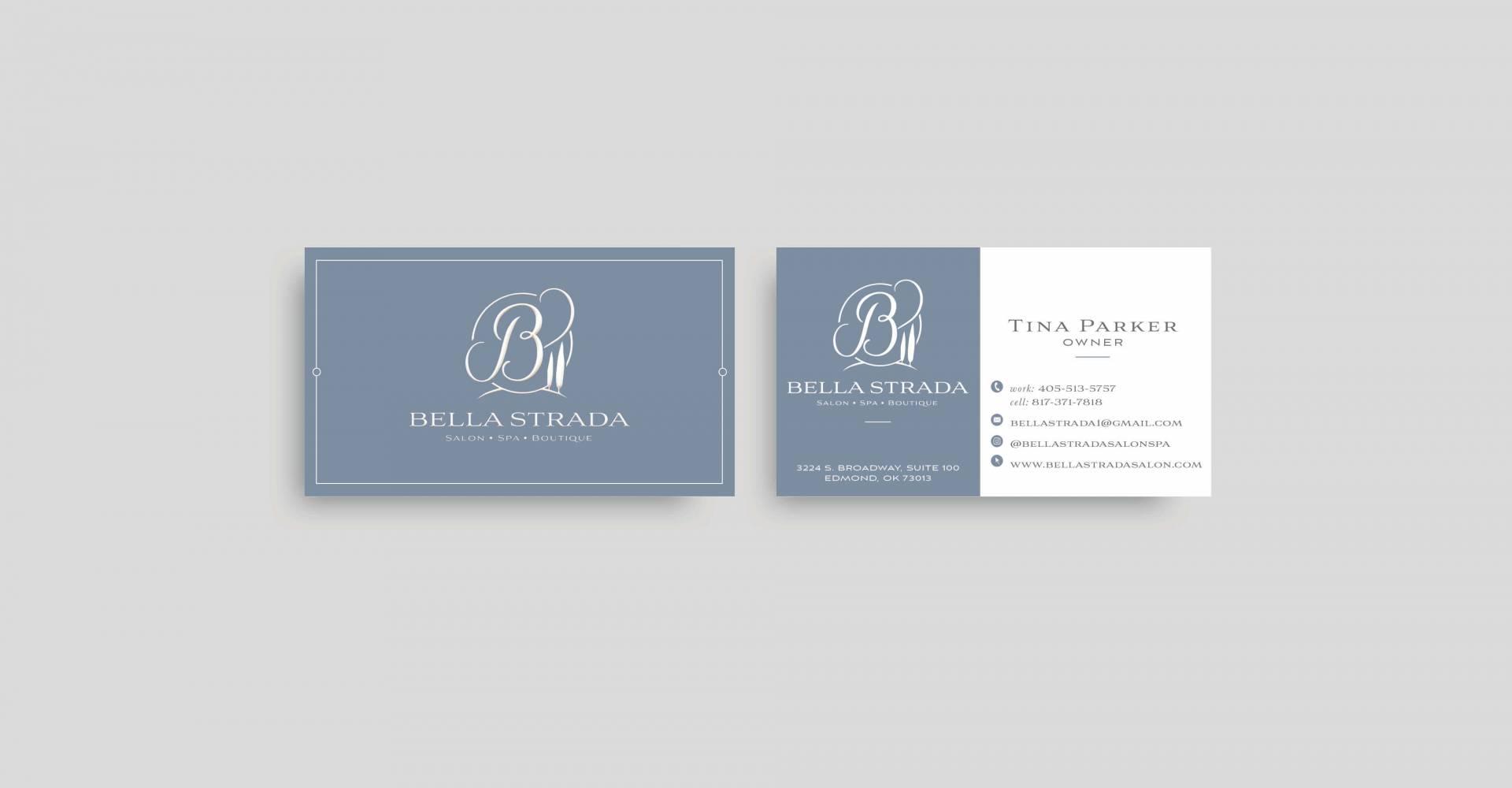 Bella Strada Salon & Spa Business Cards